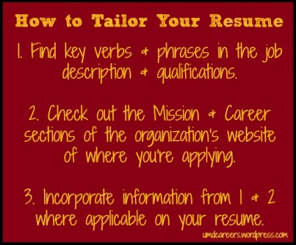 how to tailor your resume peer into your career