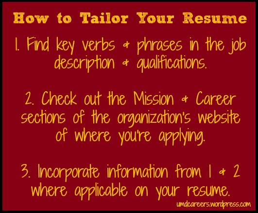 Amazing Peer Into Your Career   WordPress.com  Tailor Your Resume