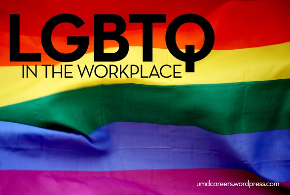 LGBTQ in the workplace; rainbow flag