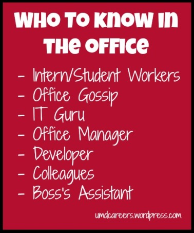 Who to know in the office