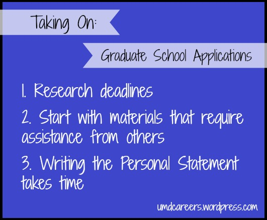 Grad School Apps