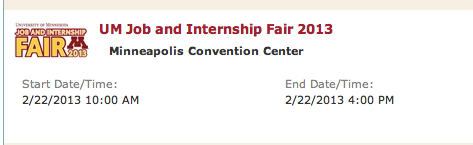 U of M Job Fair