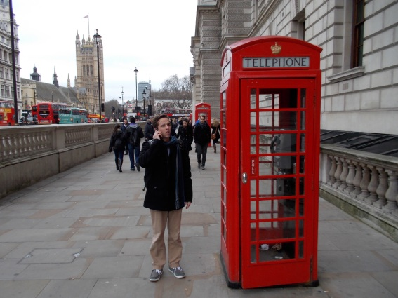Zach with telephone