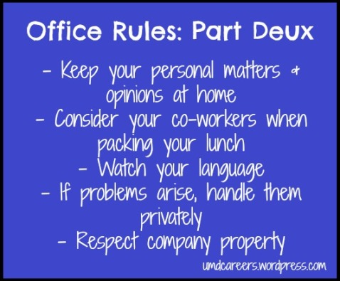 Office rules 2