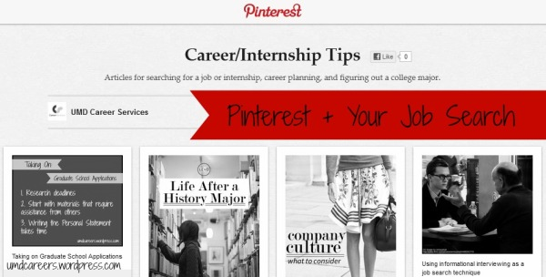 Pinterest & your job search