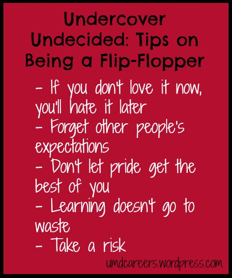 Undercover Undecided: Tips on Being a Flip-Flopper