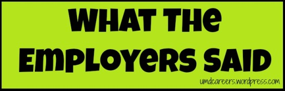what employers said