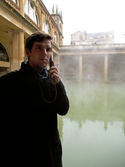 Zach at roman baths 2.20