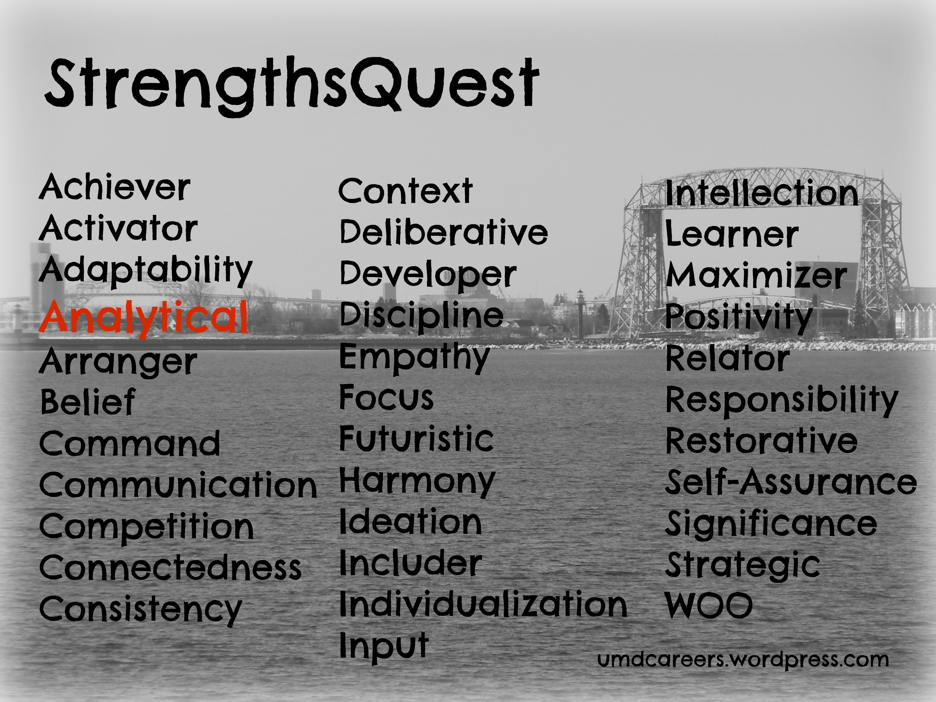 analytical as a strength peer into your career in the words of strengthsquest analytical people see themselves as objective and dispassionate and that they like data because they are value