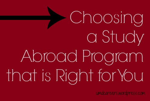 Choosing Study Abroad