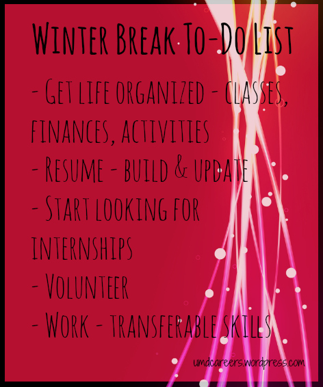 When Does Christmas Break Start.Working On Your Career Over Winter Break Peer Into Your Career