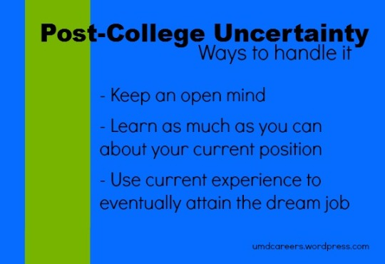 Post College Uncertainty