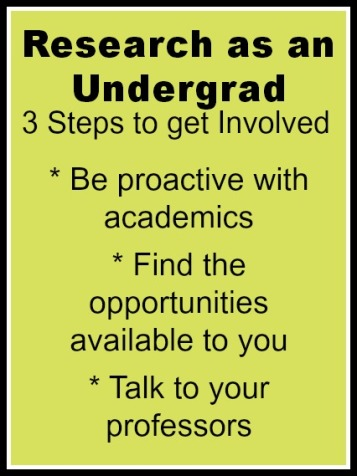 Research as an undergrad