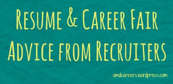 Recruiter Advice
