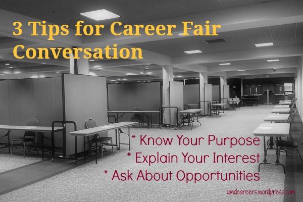 3 tips for Career Fair