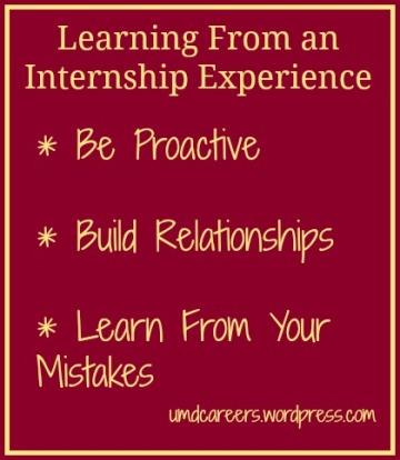 Learning from Internship