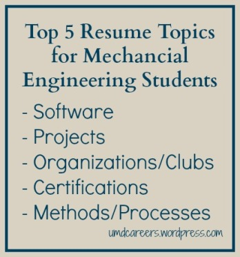 Resume Tips for ME Students