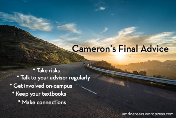 Cameron's Final Advice
