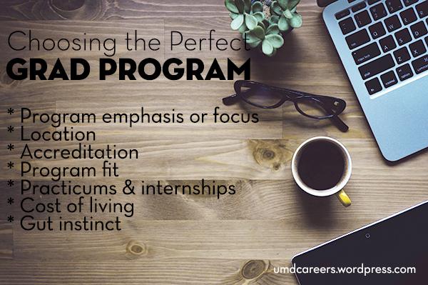Choosing Grad Program