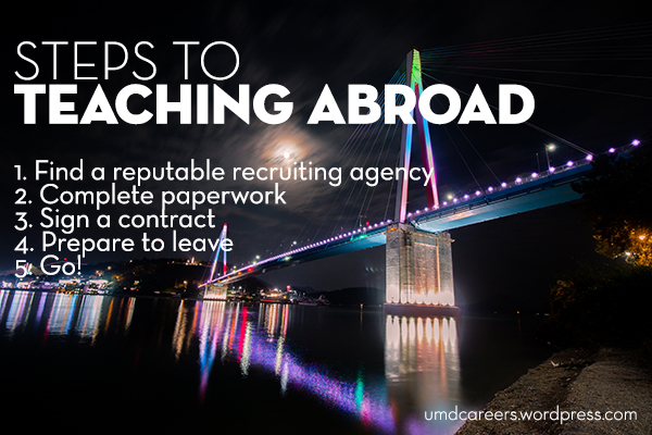 Steps to teaching abroad