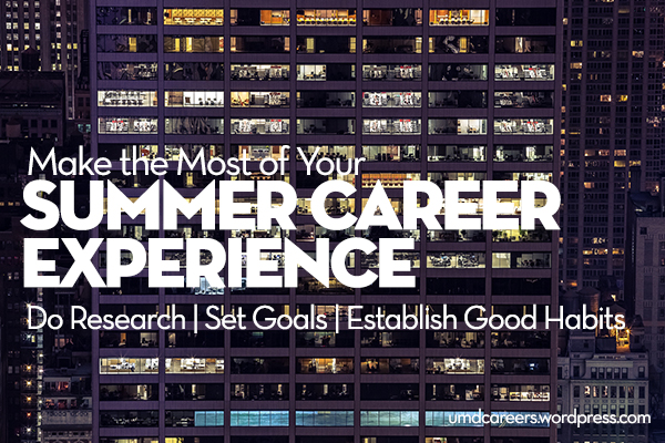 Summer Career Exp