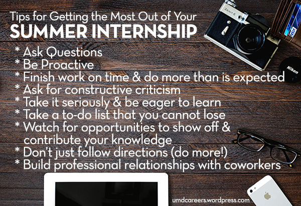 Tips for Summer Internship