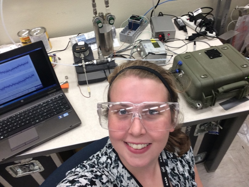 Kirsi at her co-op at NASA Johnson Space Center