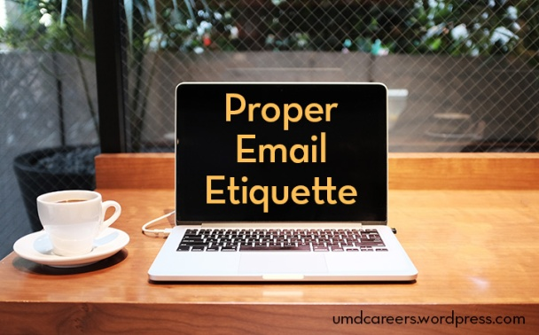 Proper email etiquette