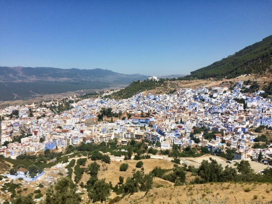 City buildings overview - ChefChaouen Morocco