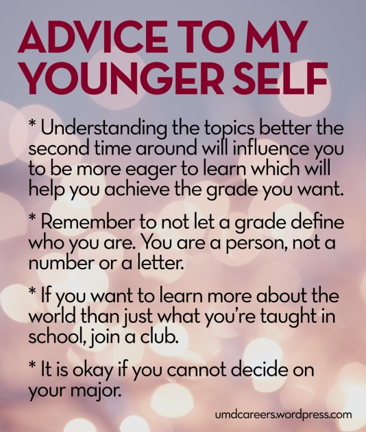 Advice to my younger self