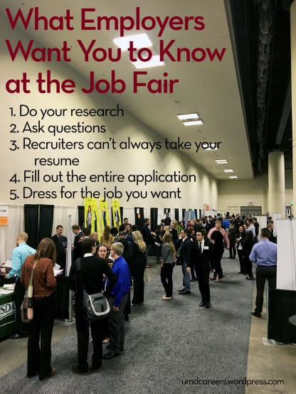 What employers want you to know at the job fair