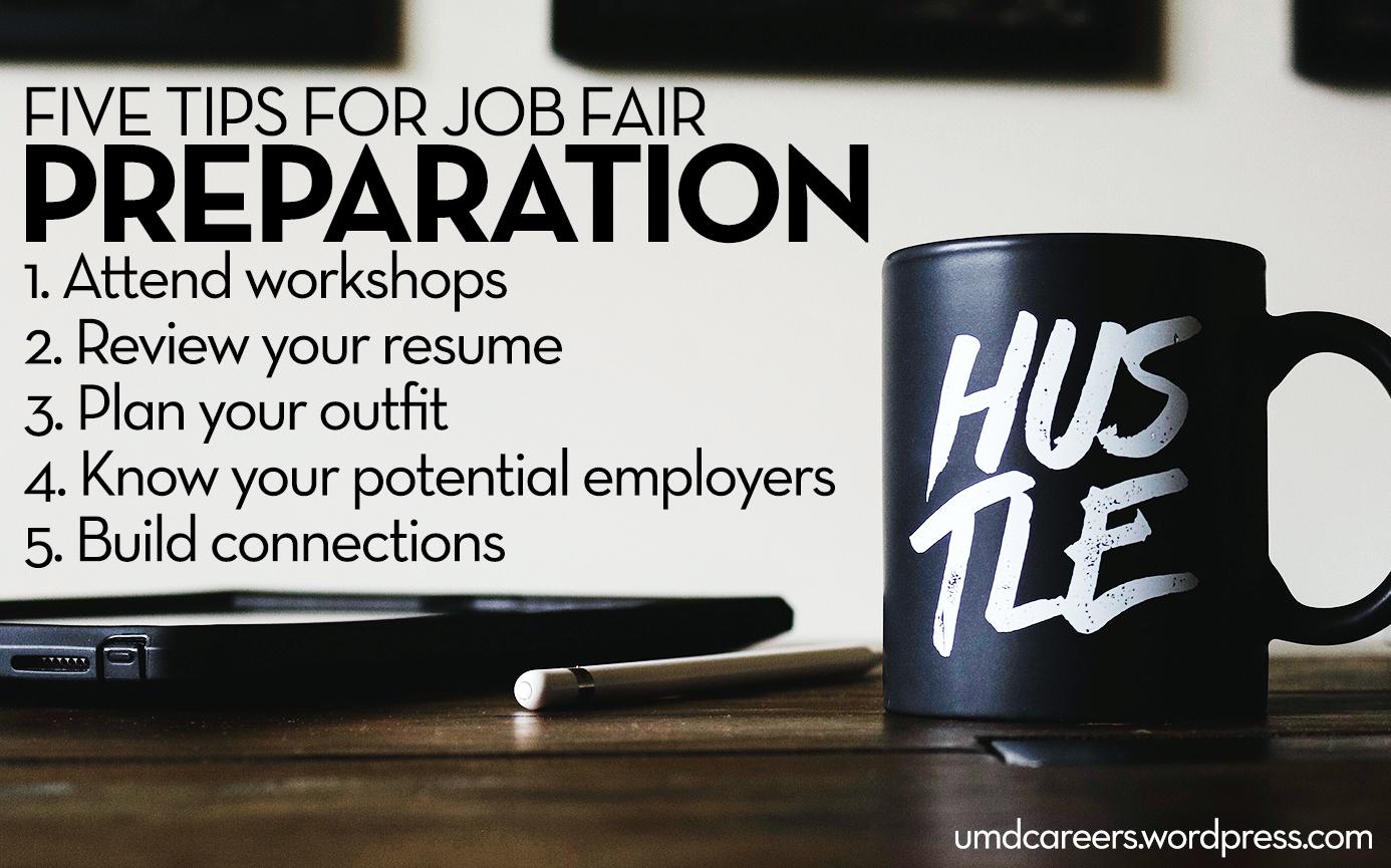 5 tips for job fair preparation