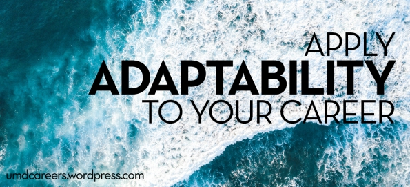 Apply adaptability to your career. Ocean waves from overhead.