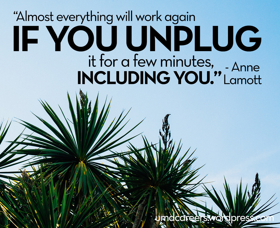 Almost everything will work again if you unplug it for a few minutes, including you. by Anne Lamott