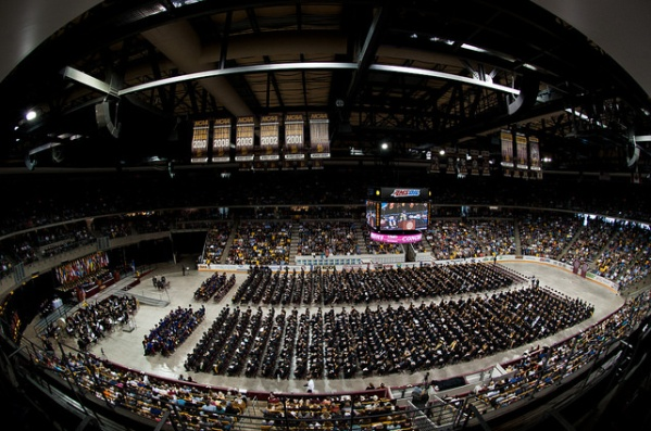 UMD Commencement overhead view