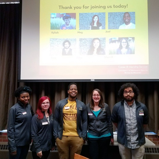 Team of student presenters