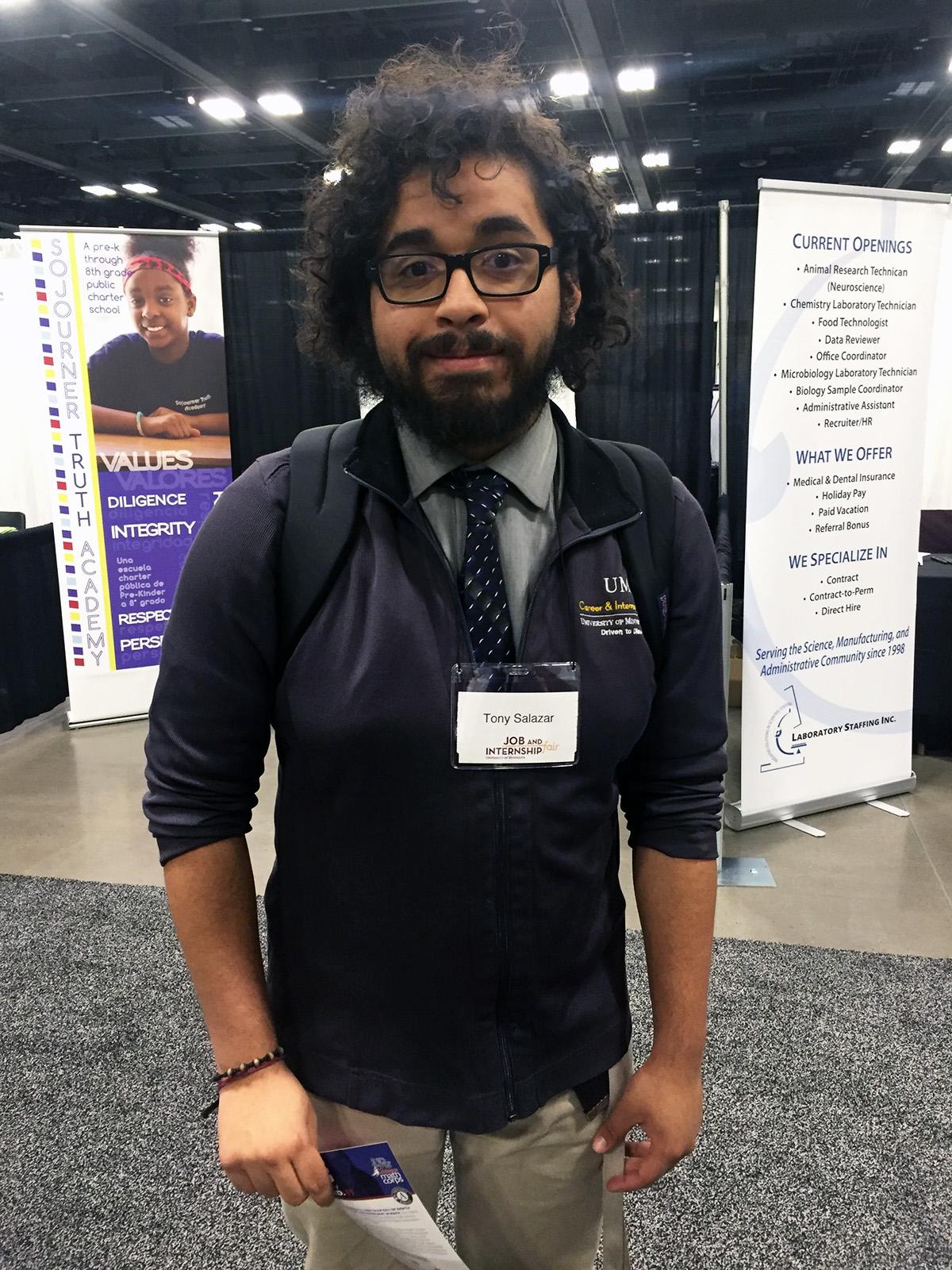 Student at job fair