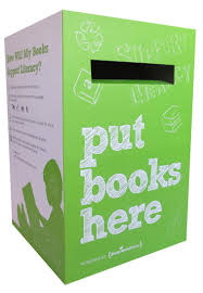 graphic of box to donate books in