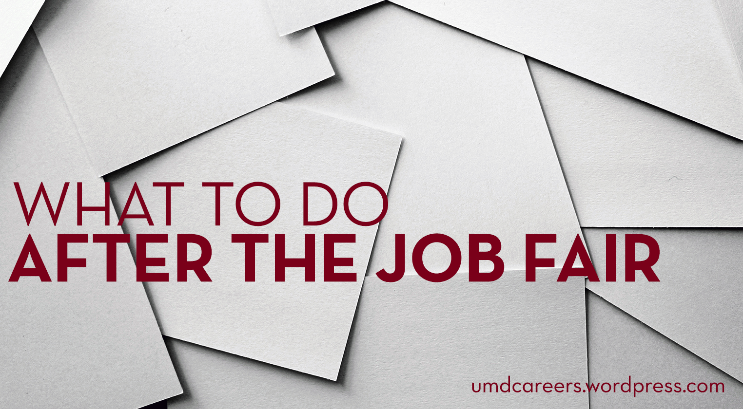 Text: What to do after the job fair