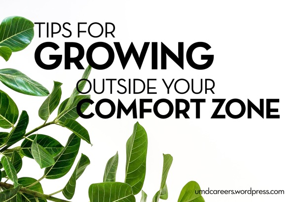 Image: large leafed green plant on white background Text: Tips for growing outside your comfort zone