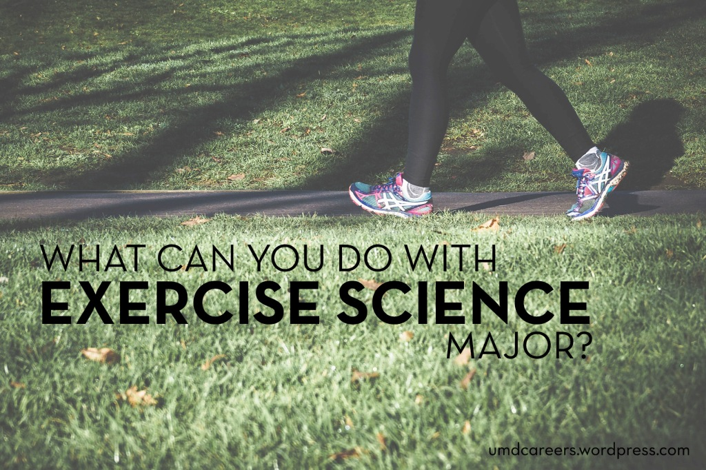 Image: person's legs & feet walking on a paved path with grass in foreground Text: what can you do with an exercise science major?